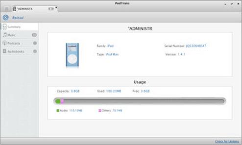 ipod transfer software - podtrans
