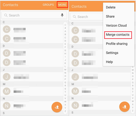 how to remove duplicate contacts in android via contacts app