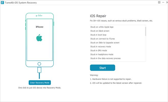 iphone repair software - tuneskit