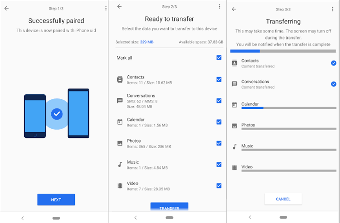 transfer contacts from samsung to sony xperia via xperia transfer 2