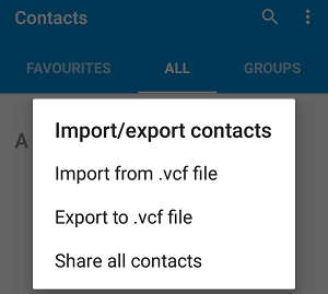 export oneplus contacts to vcard to transfer contacts from oneplus to iphone
