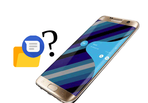 where are texts stored on android