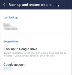 how to back up line chat on android to google drive