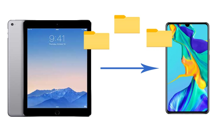 how to transfer files from ipad to android phone