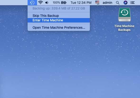 enter mac time machine