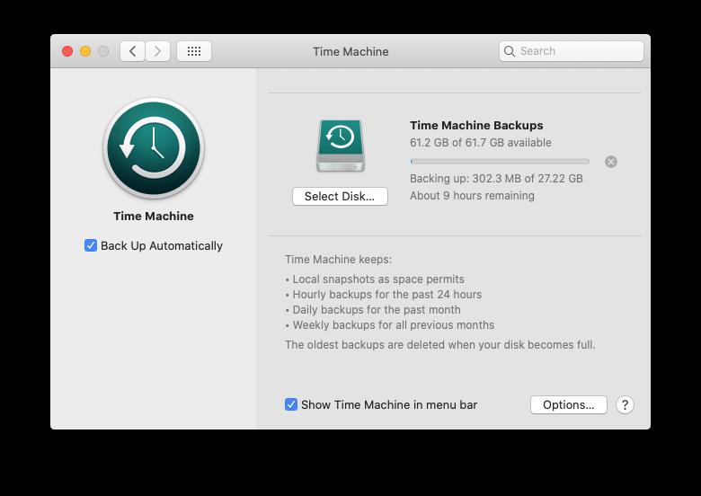 go to mac time machine