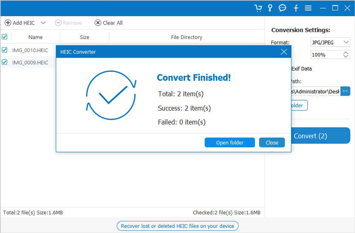 how to convert heic to jpg/png in one click