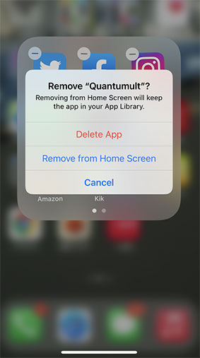 delete app to fix iphone screen of death