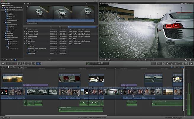 best vlog editing software - final cut pro x