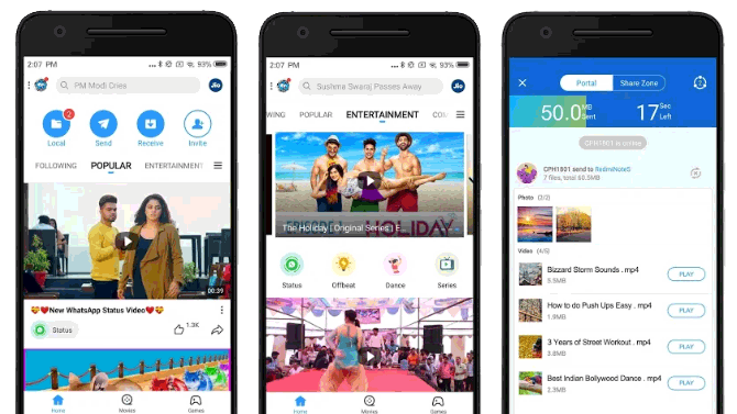 shareit review android interface