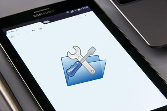 tablet white screen