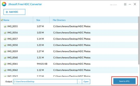 convert heic images to jpg via a useful heic converter
