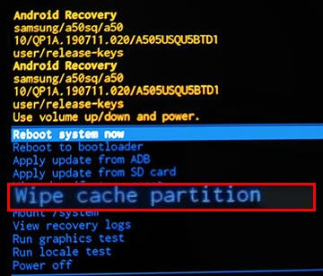 fix android stuck in bootloop via wiping cache partition