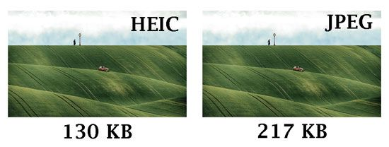 heif vs jpeg size