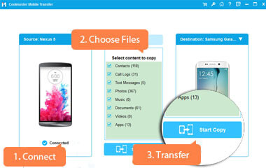 phone to phone transfer with 1 click
