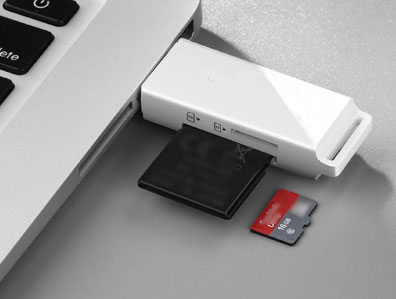 transfer files from tablet to computer via an sd card