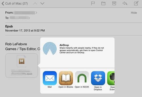 send epub to ipad via email