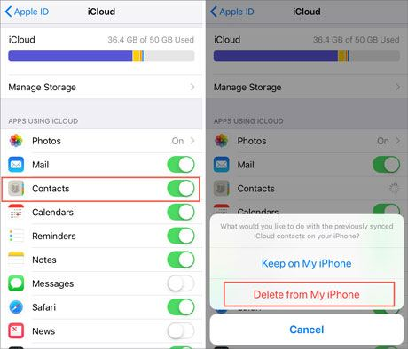 repair the issue of iphone losing contact names