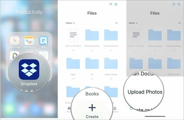 transfer files from iphone to hp laptop via dropbox
