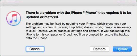 fix locked iphone after update via itunes