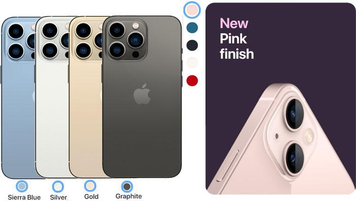 iphone 13 pro and iphone 13 colors