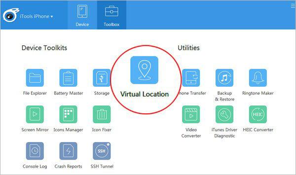 change snap map location via itools