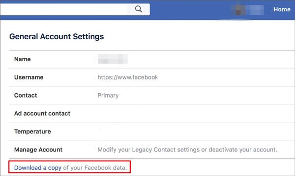 find deleted facebook photos from facebook archive