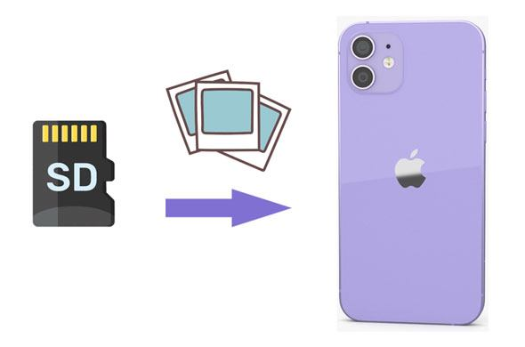 how to transfer photos from sd card to iphone
