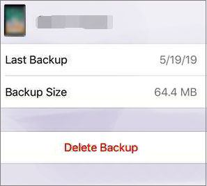 delete useless backup data from icloud to fix not enough storage issue