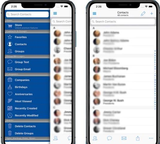 fast manage iphone contacts with the abc groups app