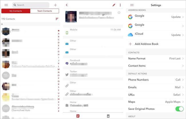 handy ios contact management app